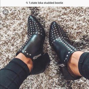 1 State Loka studded black bootie size 9 1/2